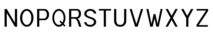 POE Monospace Font UPPERCASE