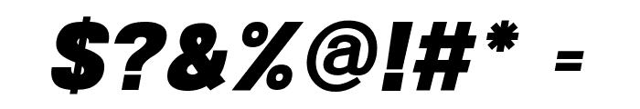 POE Sans New Black Italic Font OTHER CHARS
