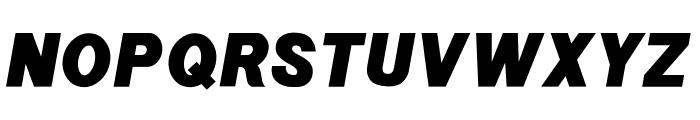 POE Sans New Black Italic Font UPPERCASE