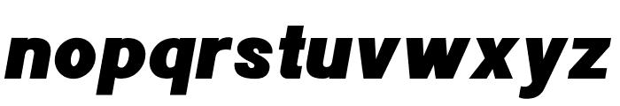 POE Sans New Black Italic Font LOWERCASE