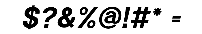POE Sans New Bold Italic Font OTHER CHARS