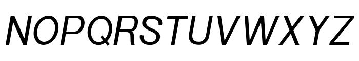 POE Sans New Italic Font UPPERCASE