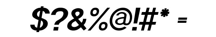 POE Sans Pro Bold Italic Font OTHER CHARS