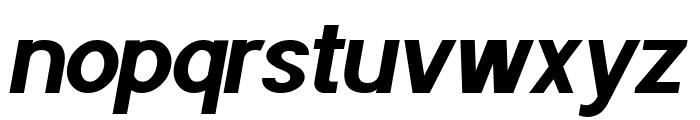 POE Sans Pro Bold Italic Font LOWERCASE