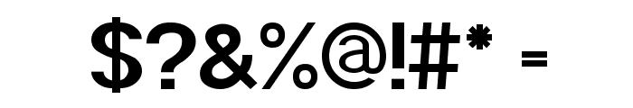 POE Sans Pro Bold Font OTHER CHARS