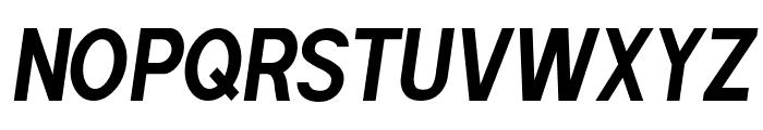 POE Sans Pro Condensed Bold Italic Font UPPERCASE