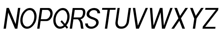 POE Sans Pro Condensed Italic Font UPPERCASE