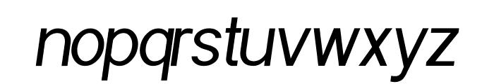 POE Sans Pro Condensed Italic Font LOWERCASE
