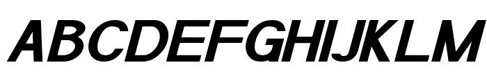 POE Sans Pro Expanded Bold Italic Font UPPERCASE
