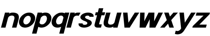 POE Sans Pro Expanded Bold Italic Font LOWERCASE