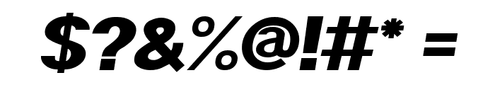 POE Sans Pro Expanded Heavy Italic Font OTHER CHARS