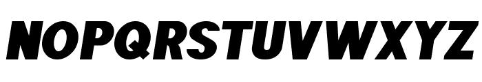 POE Sans Pro Expanded Heavy Italic Font UPPERCASE