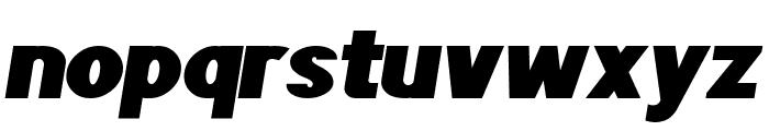 POE Sans Pro Expanded Heavy Italic Font LOWERCASE