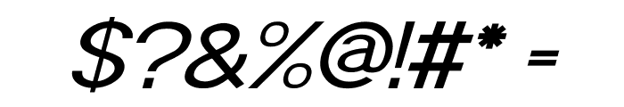 POE Sans Pro Expanded Italic Font OTHER CHARS