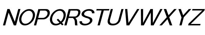 POE Sans Pro Expanded Italic Font UPPERCASE