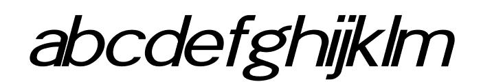 POE Sans Pro Expanded Italic Font LOWERCASE