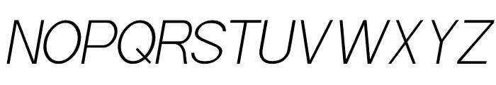 POE Sans Pro Extra Light Italic Font UPPERCASE