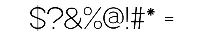 POE Sans Pro Extra Light Font OTHER CHARS