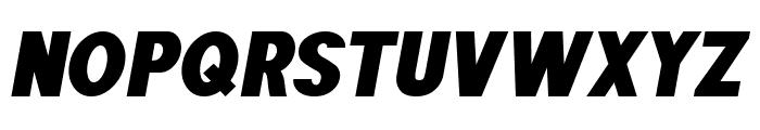 POE Sans Pro Heavy Italic Font UPPERCASE
