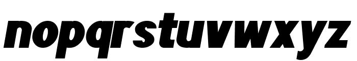 POE Sans Pro Heavy Italic Font LOWERCASE