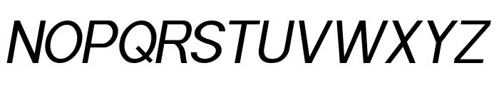 POE Sans Pro Italic Font UPPERCASE