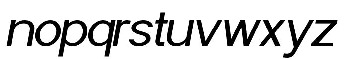 POE Sans Pro Italic Font LOWERCASE