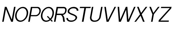 POE Sans Pro Light Italic Font UPPERCASE