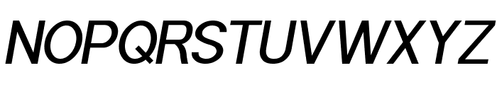 POE Sans Pro Medium Italic Font UPPERCASE