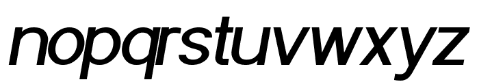 POE Sans Pro Medium Italic Font LOWERCASE
