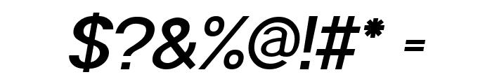 POE Sans Pro Semi-bold Italic Font OTHER CHARS