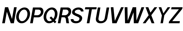 POE Sans Pro Semi-bold Italic Font UPPERCASE