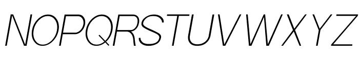 POE Sans Pro Thin Italic Font UPPERCASE