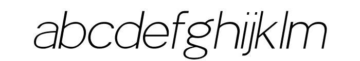 POE Sans Pro Thin Italic Font LOWERCASE