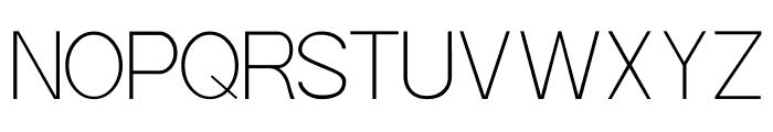 POE Sans Pro Thin Font UPPERCASE
