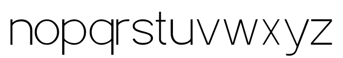 POE Sans Pro Thin Font LOWERCASE