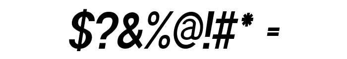 POE Sans Pro Ultra-Condensed Bold Italic Font OTHER CHARS