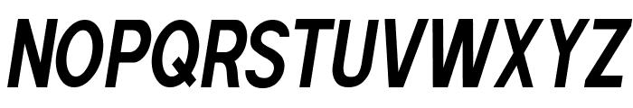 POE Sans Pro Ultra-Condensed Bold Italic Font UPPERCASE