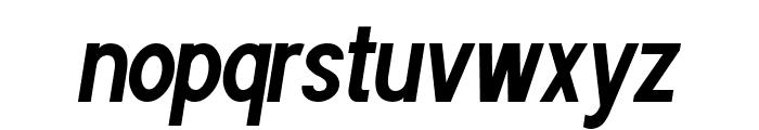 POE Sans Pro Ultra-Condensed Bold Italic Font LOWERCASE