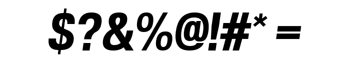 POE Vetica New Bold Italic Font OTHER CHARS