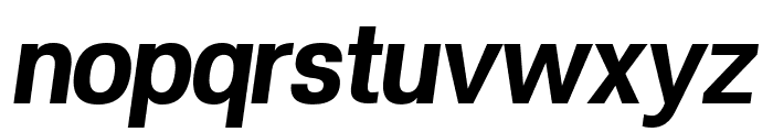 POE Vetica New Bold Italic Font LOWERCASE