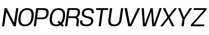 POE Vetica New Italic Font UPPERCASE