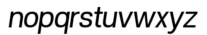POE Vetica New Italic Font LOWERCASE