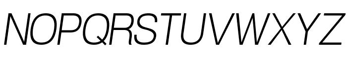 POE Vetica New Light Italic Font UPPERCASE