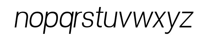 POE Vetica New Light Italic Font LOWERCASE