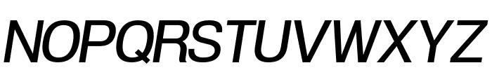 POE Vetica New Medium Italic Font UPPERCASE