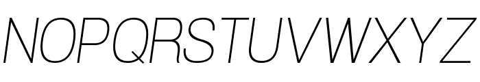 POE Vetica New Thin Italic Font UPPERCASE