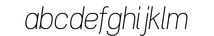 POE Vetica New Thin Italic Font LOWERCASE