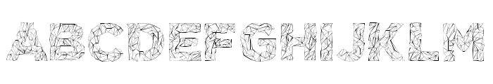 POLYA Regular Font UPPERCASE