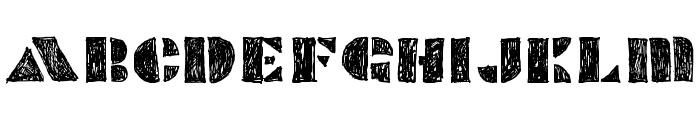 POPCORNSKETCHSKETCH Font UPPERCASE