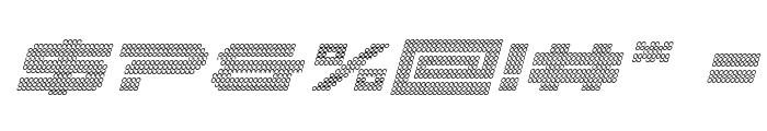 Pocket Ball 3D Italic Font OTHER CHARS